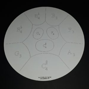 Double Guitar Pan Practice Pad - Right Side