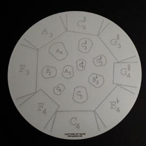 Mannette Double Tenor Practice Pad - Left Side