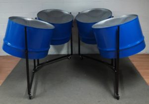 Tenor Bass Pans on Double Stands